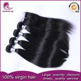 Tessuto brasiliano dei capelli umani del Virgin diritto con la chiusura del merletto