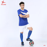 Healong Mens 검정 자수 팀 축구 Jerseys 셔츠 제복