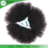 Les cheveux bouclés afro vierge couleur naturelle des cheveux bruts de qualité supérieure