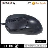 O mouse óptico preto com fio USB mais barato para laptop