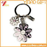 Trousseau de clés en métal de modèle de fleur de qualité pour le cadeau promotionnel (YB-LY-K-25)