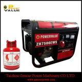 Sale를 위한 Tire Kit 6kw 6kVA LPG Gas Generator로