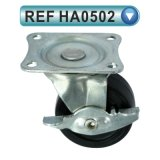 Stuhl-Rad-Fußrolle PU-Nylon-Belüftung-Möbel-Fußrollen (HA0503)