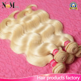 Cabelo humano cru desenhado dos comerciantes 613 do Weave do cabelo cabelo brasileiro louro adorável