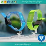 Plastic Lockの2016高品質Festival Fabric Woven Wristband