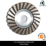 Single Turbo Shape Tipo de alumínio Diamond Cup Grinding Wheels