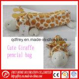 Sacchetto sveglio di Pencile del giocattolo della giraffa della peluche