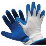 """Синий """"мятым"""" эффектом латекс покрытие трикотажные хлопок перчатки"""