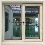 Incline Vire Window-Thermal quebrar o alumínio com revestimento de madeira