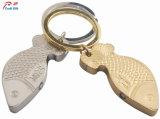 Formato de peixe de alta qualidade personalizada Porta-chaves de Metal