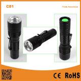 Torcia portatile della torcia elettrica dello zoom di C81 mini LED con la clip della penna
