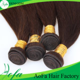 Extensão brasileira reta do cabelo do Virgin da cor não processada quente de Brown da venda