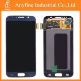 SamsungギャラクシーS6 G920A G920t G920f G920Vのための青いLCDスクリーンの計数化装置アセンブリ