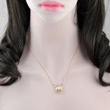 패션 악세사리 실제적인 금에 의하여 도금되는 묘안석 펀던트 보석 목걸이