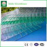 Invernadero agrícola del policarbonato barato, invernadero plástico del túnel del bajo costo para la venta, verde comercial