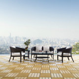 単一及び二重による最上質の新しいモデルの安く屋内屋外の柳細工の家具の藤のソファー(YT251)