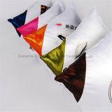 Polyester blanc de couverture de coussin de caisse de palier de blanc de sublimation de la couleur DIY de plaine diagonale d'impression