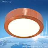 18W Dia225mm 1000lm superficie de cobre amarillo montada Epistar Chip LED Panel de luz de techo