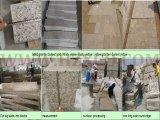 [غ682] يفرش صوان صدئة أصفر مشروع حجارة