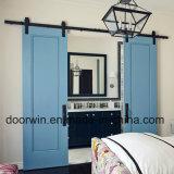 زرقاء لون بلوط مدخل غرفة باب داخليّة [سليد ووود] [دووبل دوور] مع أثر علويّة
