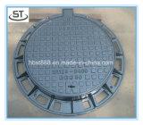 Tampa de câmara de visita Ductile redonda do ferro de molde D400 com frame