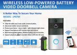 De lage Aangedreven Camera van het Huis van de Veiligheid van kabeltelevisie Vr van de Deurbel WiFi Panoramische