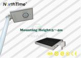 Venda a quente Infraed IP65 Sensor de movimento da lâmpada de Rua solar integrada