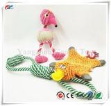 3の小さい犬のおもちゃセット-咀嚼の綿ロープのおもちゃ、子犬のためのピカピカの犬のおもちゃ