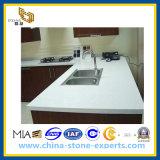 Countertop van het Kwarts van de Steen van het kristal Witte Kunstmatige voor Keuken/Badkamers