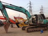 Máquina escavadora usada Kobelco Sk200-5 de Japão para a venda
