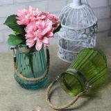De Vaas van het Glas van Suspensibility voor de Decoratie van het Huis met Nylon Kabel