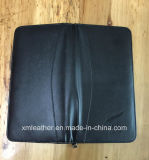 Passport를 위한 Black 돋을새김된 Zip PU Leather Travel Document Wallet