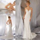 Мода Русалки кружевом валика клея на линии Sexy Beach свадебные платья (6868)