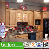 Fábrica de madera de la cabina de cocina de China de la unidad de la cabina de cocina de la teca sólida