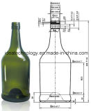 最上質のボルドーのワイン・ボトル750mlのガラスアルコール飲料のびん