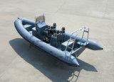 Canot automobile gonflable rigide de fibre de verre d'Aqualand 21feet 6.4m/bateau pêche de sports (RIB640T)