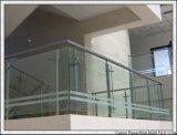 El vidrio Tempered claro con la pantalla de seda/pulió los bordes para el edificio