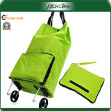 Fácil de transportar Olders Bolsa Trolley asa plegable con ruedas