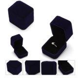 Caja de joyería plástica de encargo del terciopelo de la venta caliente