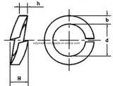 Acier inoxydable rondelle à ressort oxyde galvanisé/noir de 201/304/316/