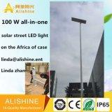 con la luz solar de RoHS 100 W LED del Ce del IP 65 del diseño para la iluminación del jardín