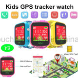 """1.44 """" 다채로운 접촉 스크린 GPS 아이 추적자 시계 (Y9)"""