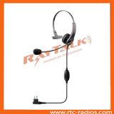 Cuffia avricolare del Mic dell'asta del walkie-talkie con le PPTT per Motorola Gp300/Gp308/Cp040