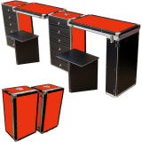 Kundenspezifisches Ablagekasten-Aluminiumkasten-Tarnung-Muster/roter/blauer Hilfsmittel-Kasten (HF-1208)