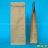 250 g 500 g de 1lb refuerzo lateral de cierre de cremallera con fondo plano de la bolsa de envasado de café con válvula