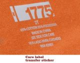 Calore Transfer Care Label Stickers Size Labels per Garments