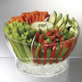 Новый салат на льду с салатом из акрилового волокна Куполообразная крышка чаши серверы работают чаша
