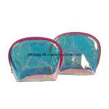 Saco de cosméticos de moda em material PVC ambientais à prova de água