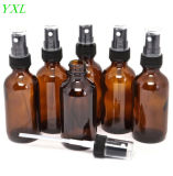 5 ml -100ml en verre ambré de l'emballage cosmétiques bouteille avec le pulvérisateur en plastique