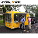 Nouvelle entrée de haute qualité de la rue de la cuisine de Fast Food remorquable chariot